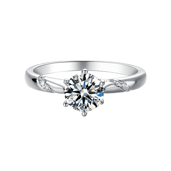 Tesiro | Zircon Gemstones Band Moissanite Ring (0.5~1.0ct)