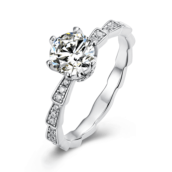 Medusa | Zircon Gemstones Band Diamond Ring (1.0ct)