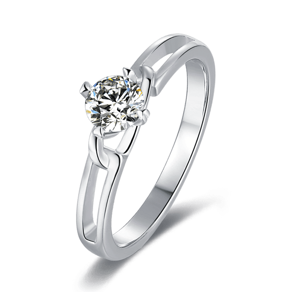 Bowknot | Solitaire Diamond Ring (0.5ct)