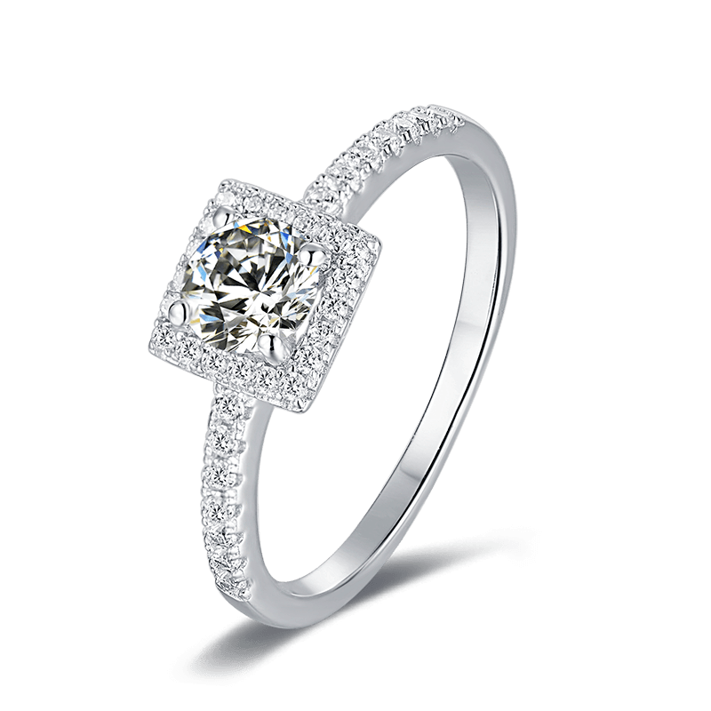 Cushion | Zircon Gemstones Band Diamond Ring (0.5ct)