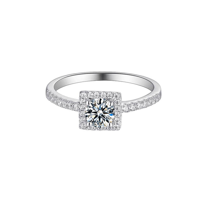 Cushion | Zircon Gemstones Band Moissanite Ring (0.5ct)