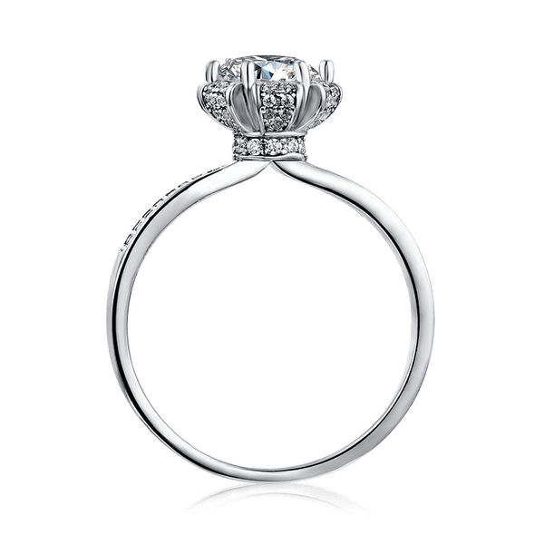 Wishing | Zircon Gemstones Band Diamond Ring (1.0ct)