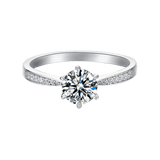 Vega | Zircon Gemstones Band Moissanite Ring (0.5~3ct)