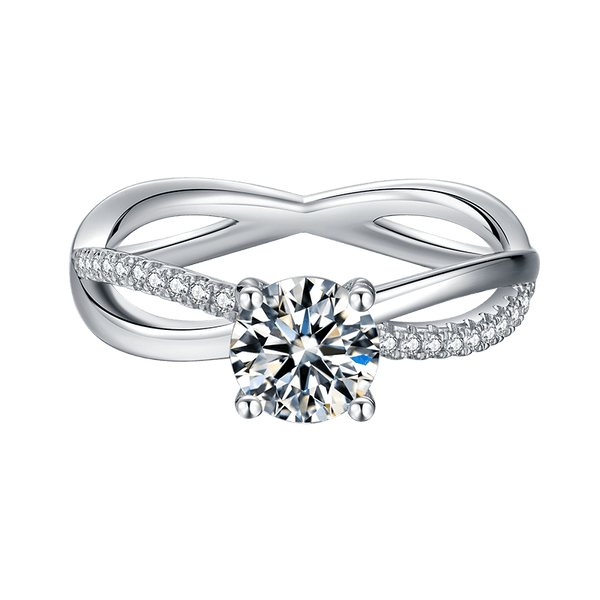 Wreath | Zircon Gemstones Band Moissanite Ring (1.0ct)
