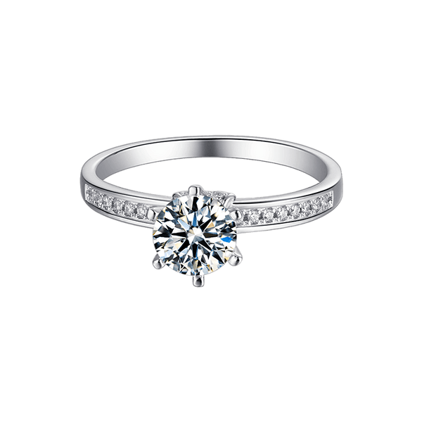 Salute | Zircon Gemstones Band Diamond Ring (1.0ct)