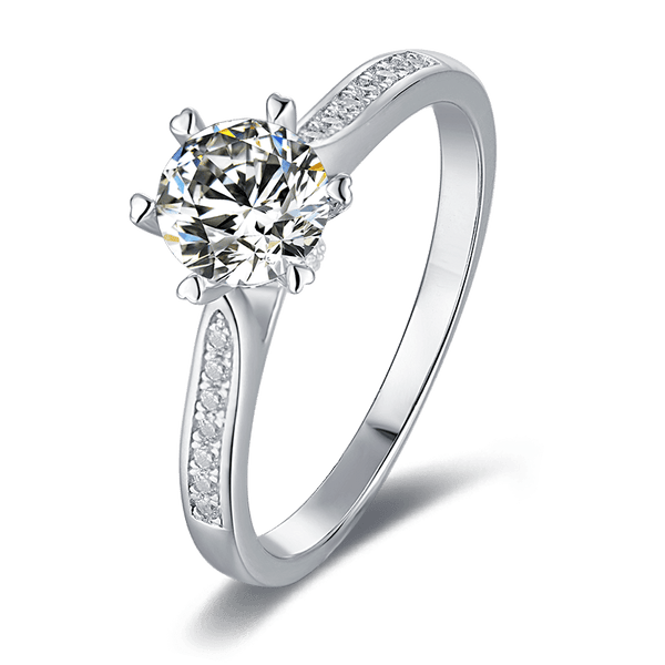 Luck | Zircon Gemstones Band Diamond Ring (0.5~1.0ct)