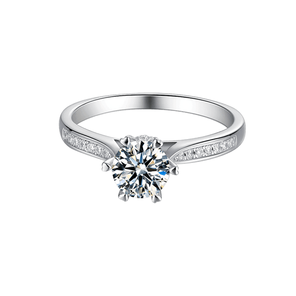 Luck | Zircon Gemstones Band Moissanite Ring (0.5~1.0ct)
