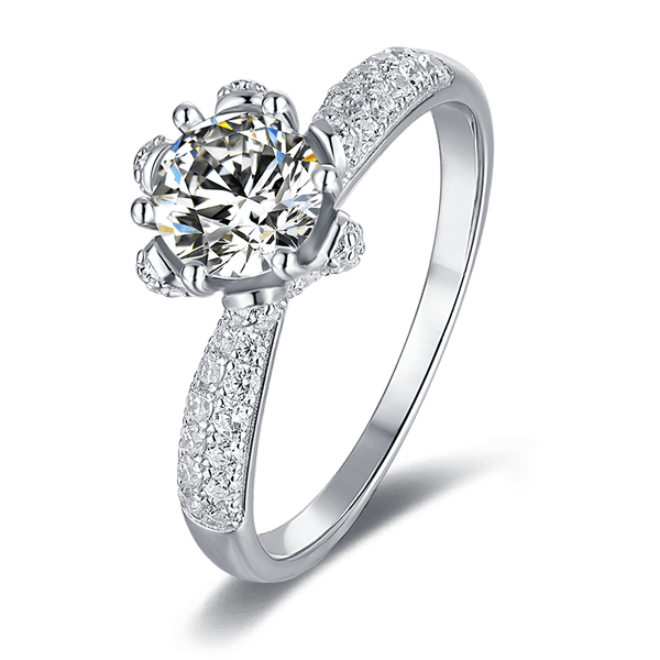 Flora | Zircon Gemstones Band Diamond Ring (1.0ct)