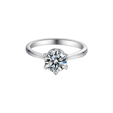 New Six-Prong | Solitaire Moissanite Ring (0.5~1.0ct)