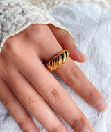 Gold Braided| Stacking Vintage Ring