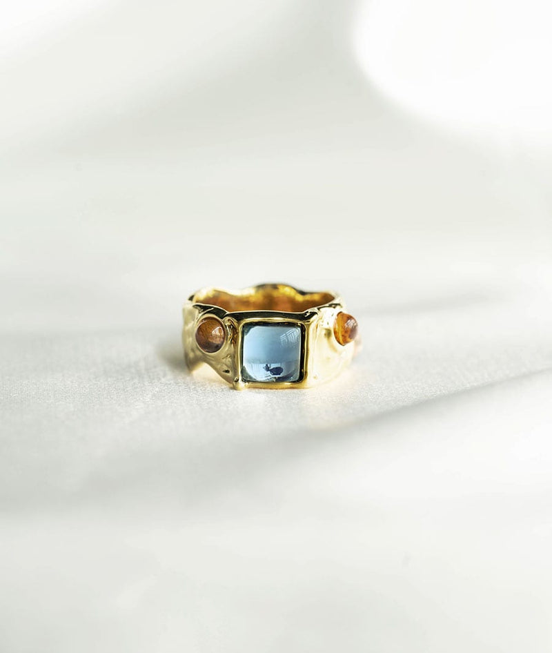 Antique Art StonesⅢ| sapphirering Ring