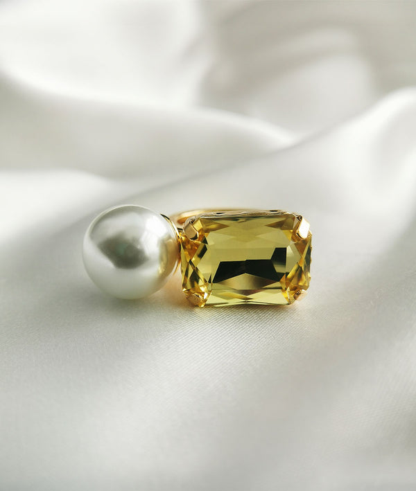Gem & Fresh Water Pearl| Fashion Open Ring