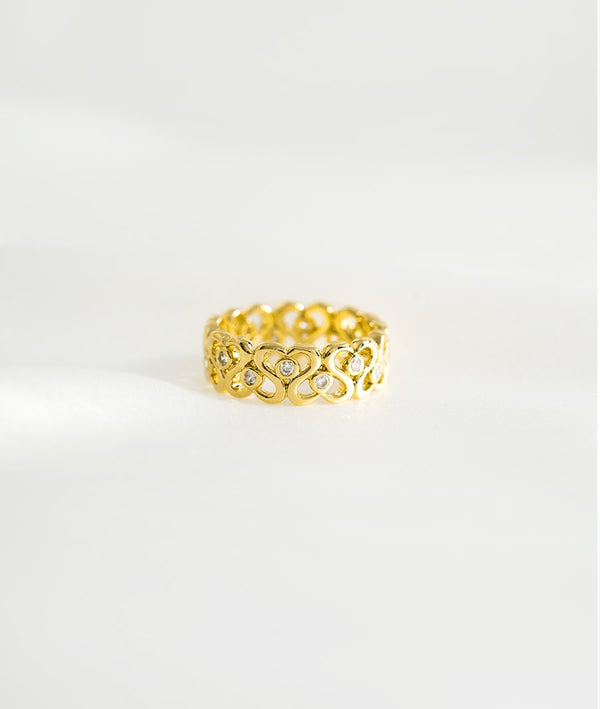 Fancy Waves| Gold Plated Open Ring