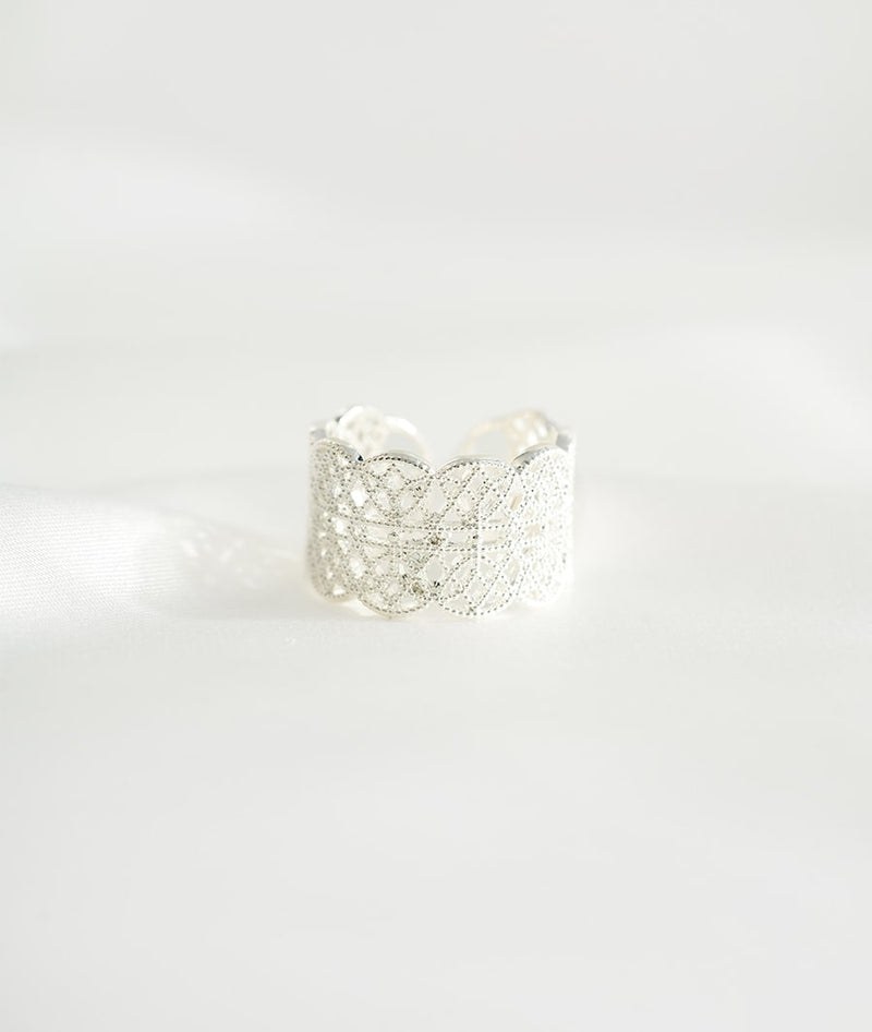 Imperial Crown I | Silver Plated Open Ring