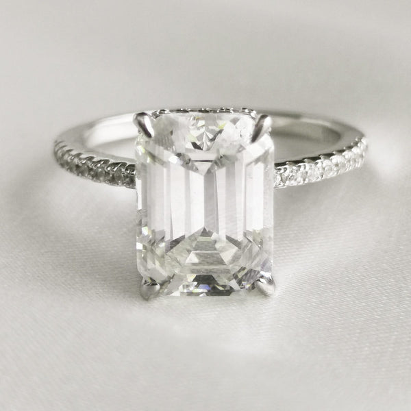 Donna | Emerald Cut Silver Ring