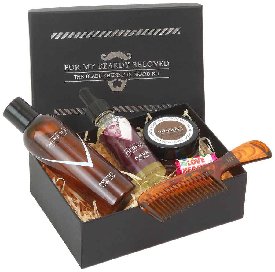 Beard Grooming Kit packed in a gift box