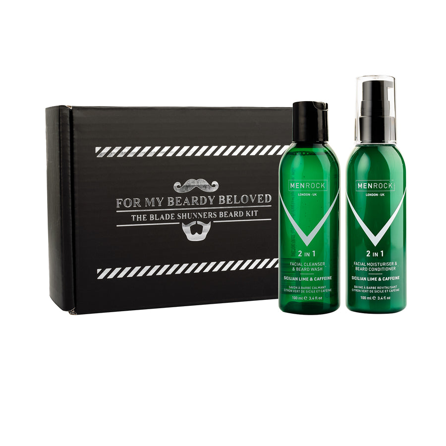 Beard Shampoo and Balm in a beard care set