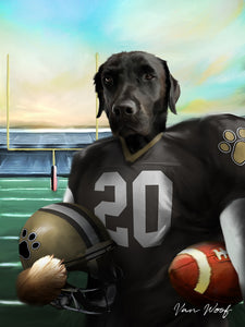 New Orleans Football Player