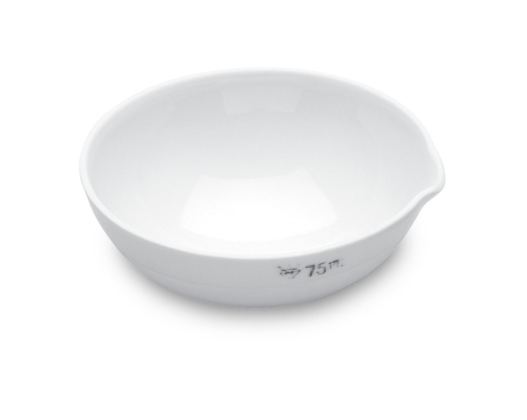 Evaporating Dish, 75mL, porcelain