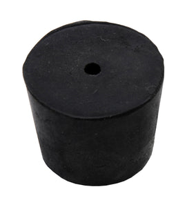 Rubber Stopper, 1-hole, #6