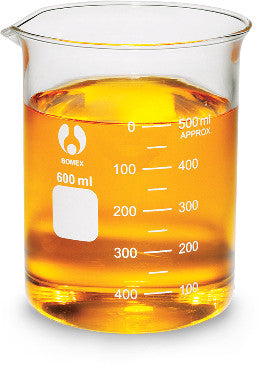 Beaker, 600mL, glass