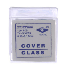 Coverslips, glass, 100pk