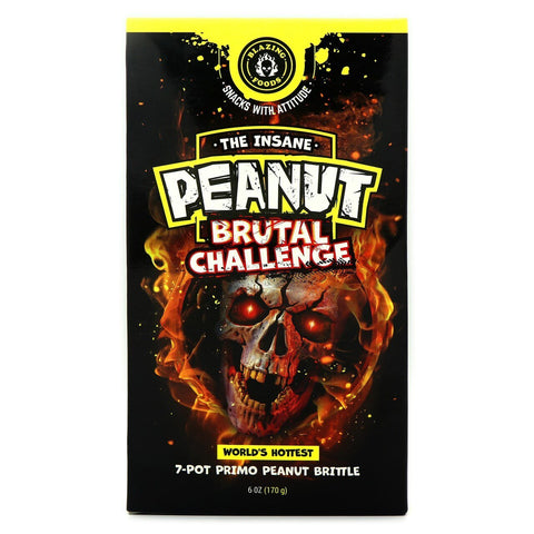 Blazing Foods The Insane Peanut Brutal Challenge - Lucifer's House of Heat