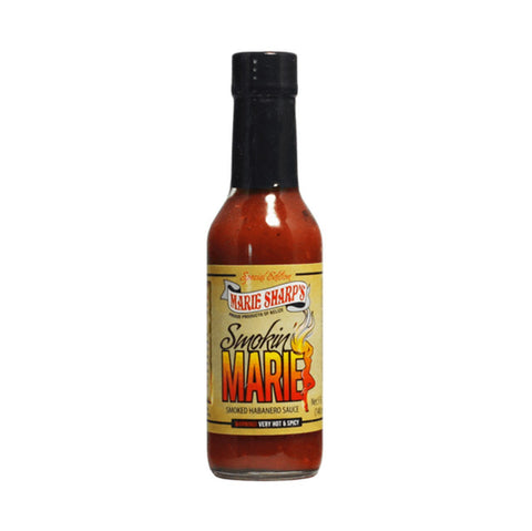 Marie Sharp's Smokin' Marie HOT Habanero Pepper Sauce (10oz) - Lucifer's House of Heat