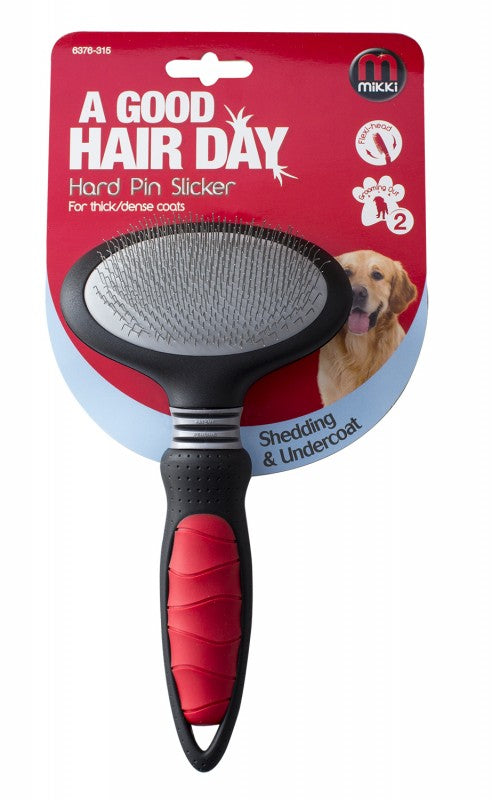 Mikki Hard Pin Slicker for thick/dense coats - Small