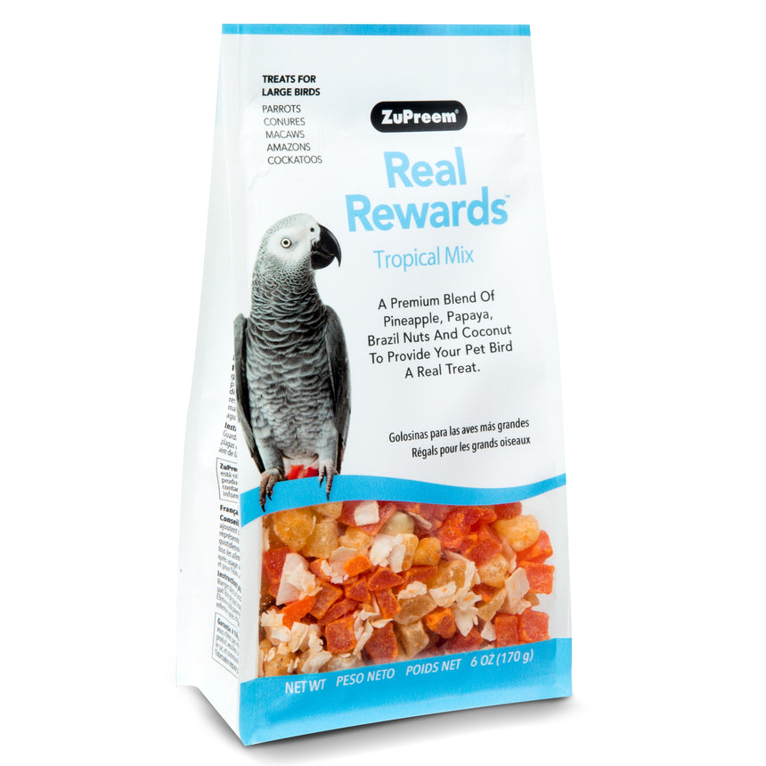 Zupreem Real Reward Large Parrot Treats - Tropical Mix 170g