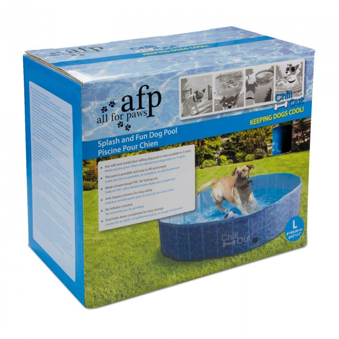 All for Paws Chill Out Splash & Fun Dog Pool - L