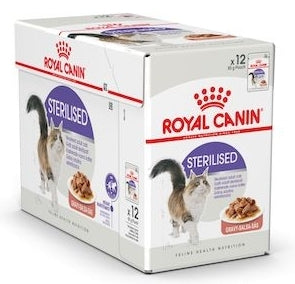 Royal Canin Sterilised in Gravy Wet Food (12x85g)