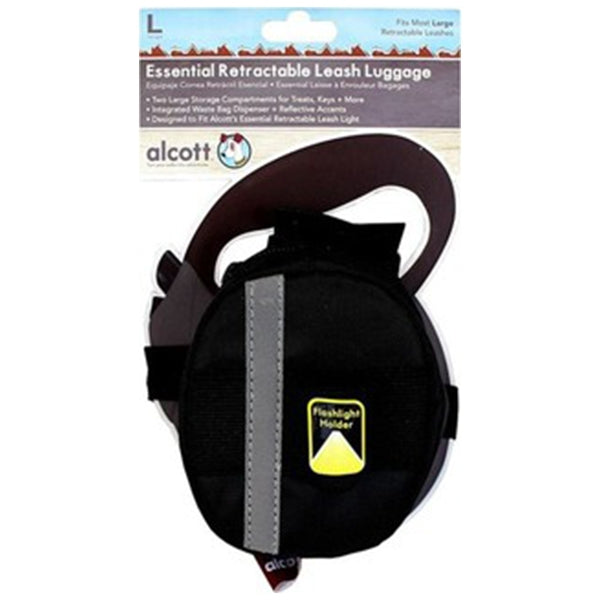 Alcott Luggage for Retractable Leash, Large - Black