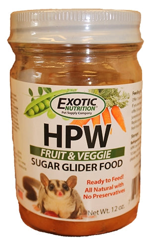 Exotic Nutrition HPW Fruit & Veggie Sugar Glider Food - 12oz