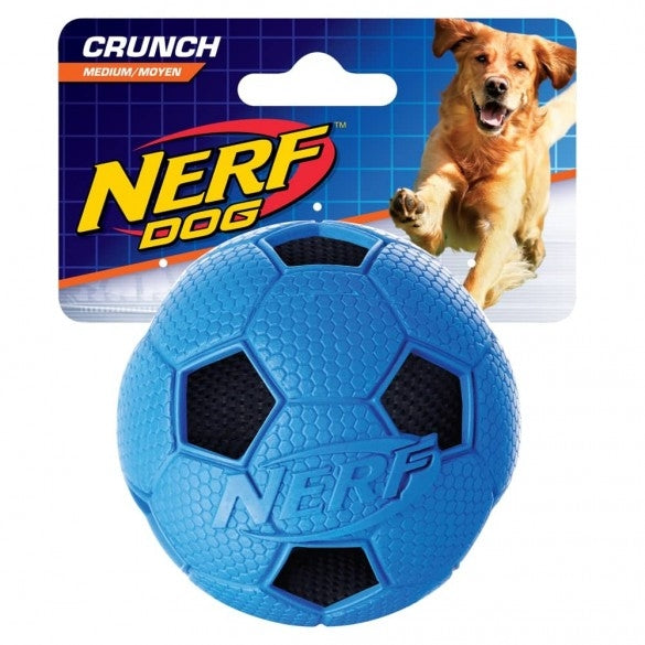 Hagen Soccer Crunch Squeak Ball Green/Blue - Medium