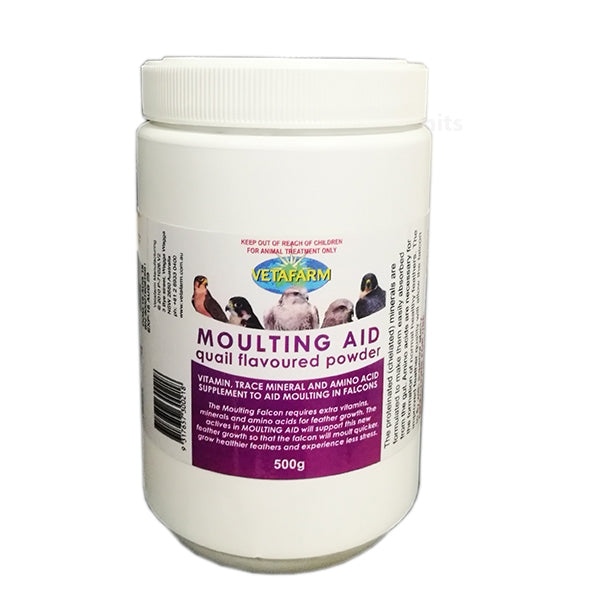 Vetafarm Falcon Moulting Aid Powder Quail 500g