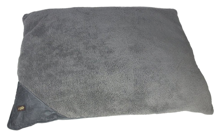 All for Paws Lambswool Pillow Bed - Large/Grey