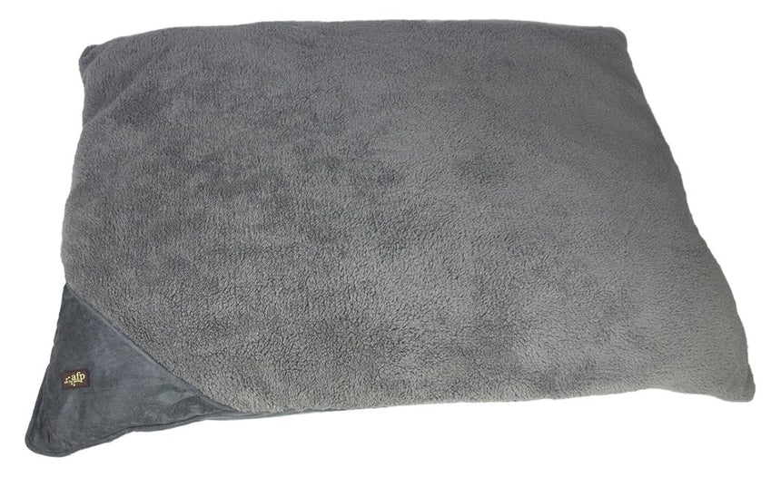 All for Paws Lambswool Pillow Bed - Medium/Grey