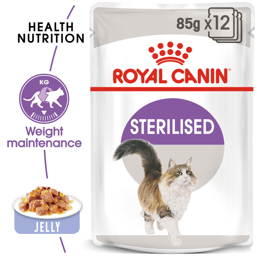 Royal Canin Sterilised in Jelly Wet Food 85g