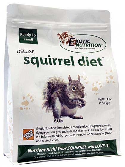 Exotic Nutrition Deluxe Squirrel Diet - 3LB (1.36kg)