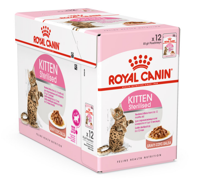Royal Canin Kitten Sterilised in Gravy Wet Food (12x85g)