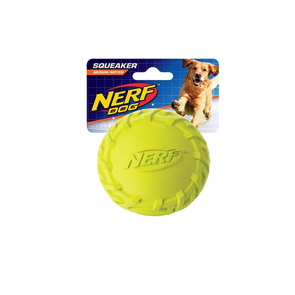 Hagen Tire Squeak Ball Green/Red - Small