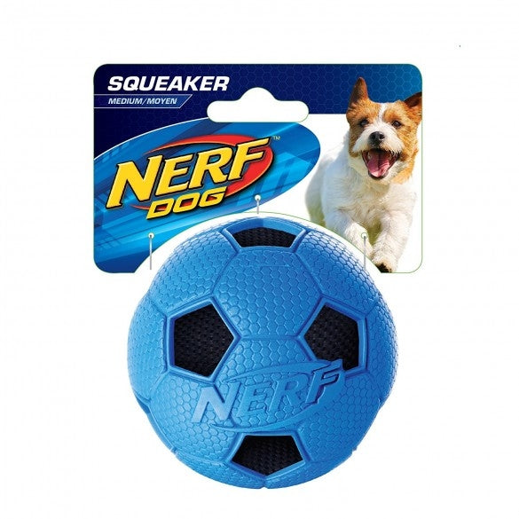 Hagen Soccer Crunch Squeak ball Red/Blue - Small