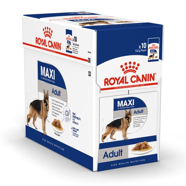 Royal Canin Maxi Adult Wet Food (10x140g)