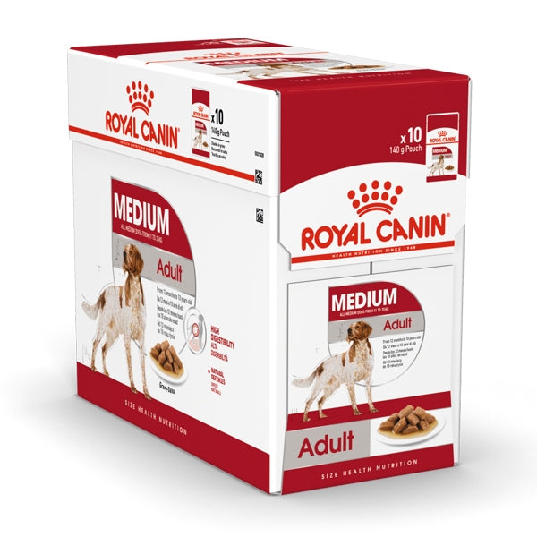 Royal Canin Medium Adult Wet Food (10x140g)