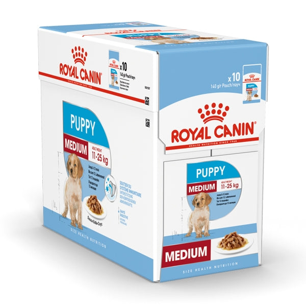 Royal Canin Medium Puppy Wet Food (10x140g)
