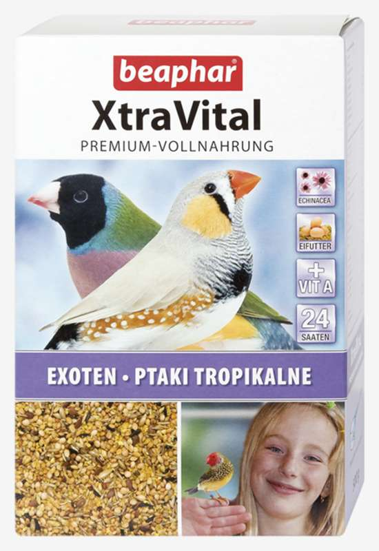 Beaphar XtraVital Tropical Bird Feed 500g (New Formula)
