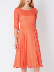 GERANIUM PLAIN GEORGETTE SERENA DRESS
