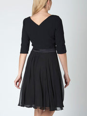 BLACK PLAIN GEORGETTE JEMIMA DRESS