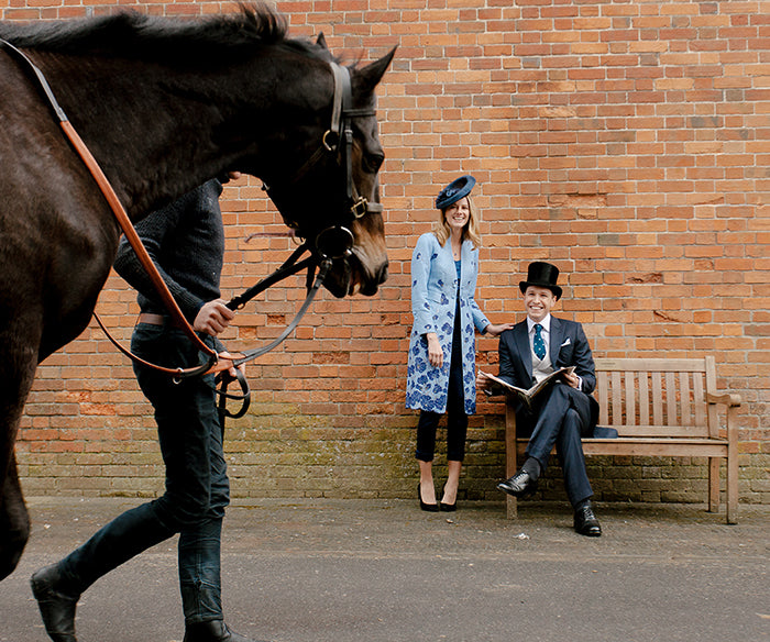 Models wearing Favourbrook morning dress for Royal Ascot